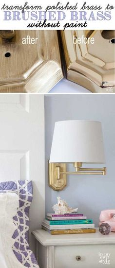 Transformation: Update Brass Lamps   In My Own Style