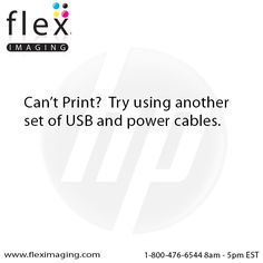 Can't Print?  Try using another set of USB & power cables.  The ones you have may be worn out or damaged.