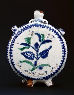 Old Pottery, Hungary, Glass Bottles, Stoneware, Machine Embroidery, Folk Art, Decorative Plates, Ceramics, Tableware