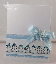 close to my heart snow friends card - Google Search