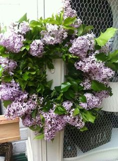 Lovely Lilac wreath - the first I think I've seen, via Chic and Antique