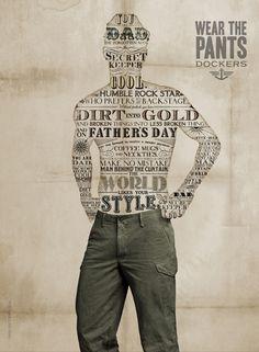 Wear the Pants - Dockers, Typographic model #typography