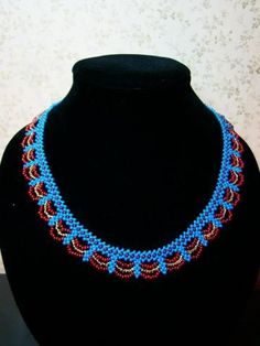 free necklace pattern -- bead weaving