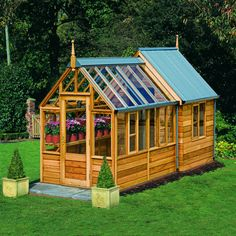 the rosemoor combi greenhouseshed is a w x l greenhouse attached to a w x 4 l shed the entire structure is made from western red cedar which not only