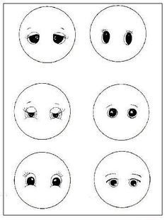 Facial stencils for stained glass