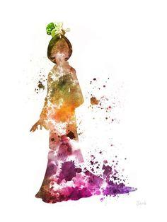 Ilustración de lámina de Mulan, princesa, Disney, mixta, Home Decor, guardería, niños