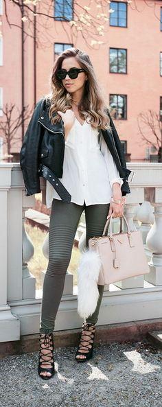 #Prada #bag #sunglasses #jacket #hair #chic