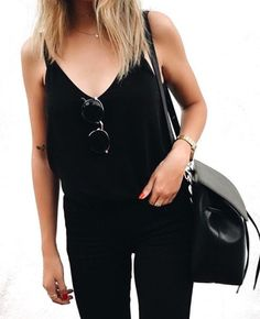 All black outfit for fashion inspiration, casual look anyone?   <3 @benitathediva