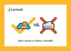 Data v cloudu vs. Papíry v kanceláři Logos, Logo