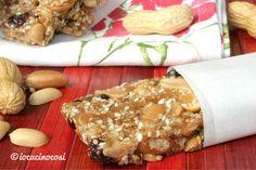 Ricetta Barrette croccanti arachidi e cereali al cocco