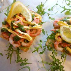 Edel's Mat & Vin : Rekesmørbrød med koriander -og persille pesto ♫