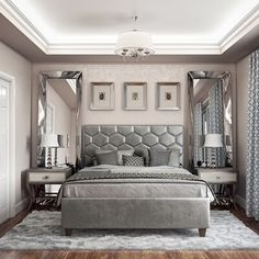 The City Chic Bedroom Collection by Accentrics Home embodies sophisticated, stylish designs that capture the essence of the upscale metropolitan lifestyle. Classical elements mix together in new eclectic patterns to create a contemporary furniture collect Glam Bedroom, Room Ideas Bedroom, Bedroom Sets, Home Decor Bedroom, Girls Bedroom, Boutique Bedroom Ideas, Master Bedroom Decorating Ideas, Silver Bedroom Decor, Master Bedroom Makeover