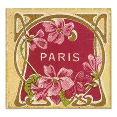 Vintage Paris Perfume Label Posters by yesterdaysgirl