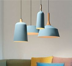 Inject a bit of life and personality into your home with modern ceiling light fixtures. Here's how to use ceiling lights in your home decor. Porch Light Fixtures, Bedroom Light Fixtures, Kitchen Lighting Fixtures, Kitchen Pendant Lighting, Pendant Lights, Ceiling Hanging, Ceiling Lamp, Hanging Lights, Ceiling Lights