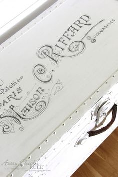 Old Trunk Coffee Table , a THRIFY Makeover! - artsychicksrule.com Graphic's Fairy Graphics
