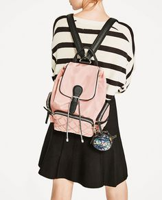 ZARA - WOMAN - TECHNICAL FABRIC BACKPACK WITH PENDANT