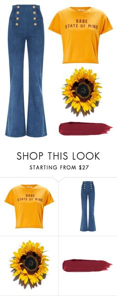 """""""babe state of mind"""" by emma-morgan2 ❤ liked on Polyvore featuring Miss Selfridge, Balmain, women, Babe, polyvoreeditorial and polyvorefashion"""