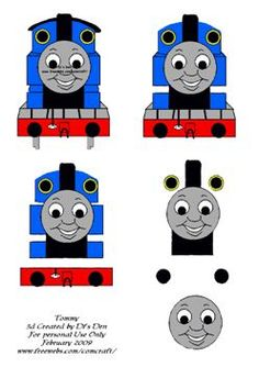 Thomas the tank engine Boy Cards, Kids Cards, 3d Paper, Paper Crafts, Free Paper, 8 Year Old Boy, Decoupage Printables, 3d Craft, Parchment Craft