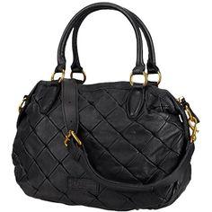 Shopper mit Steppungen - Elegante schwarze Handtasche von Liebeskind Berlin. Sie kommt mit Rautensteppung im Patchwork-Look vorn. - ab 229,00€