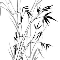 bamboo leaf line art Bamboo Drawing, Bamboo Art, Bamboo Crafts, Japanese Bamboo, Japanese Art, Chinese Painting, Chinese Art, Tattoo Crane, Bamboo Tattoo