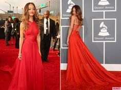Wow. Rihanna in Azzedine Alaia -Grammy Awards 2013