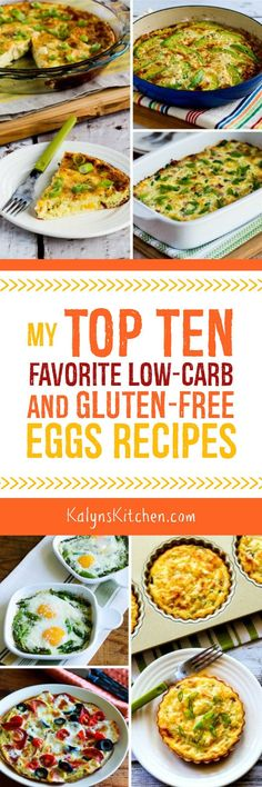 My Top Ten Favorite Low-Carb and Gluten-Free Eggs Recipes found on KalynsKitchen.com