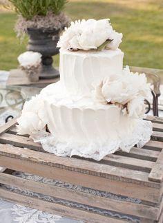 simple white butter cream cake - Style Me Pretty | Gallery | Picture | #746791
