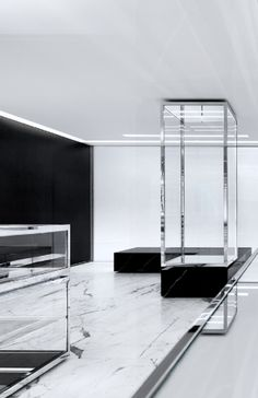 chic, chic, chic.......Saint Laurent store by Hedi Slimane