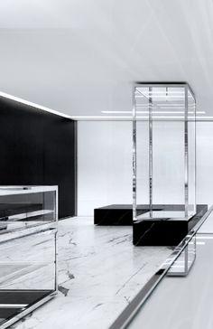 Saint Laurent store by Hedi Slimane Interior Architecture, Interior And Exterior, Interior Design, Store Concept, Saint Laurent Store, Hotel Concept, Retail Space, Shop Interiors, Restaurants