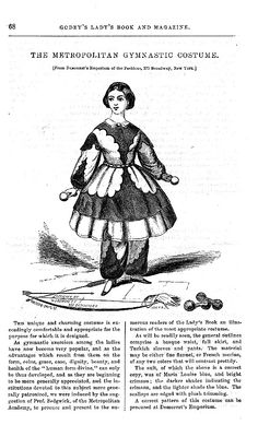 What the well dressed young lady wore to gymnastic classes in Victorian Jewelry, Victorian Fashion, Victorian Life, Vintage Fashion, Victorian Women, Gymnastics Suits, British Costume, Civil War Fashion, Civil War Dress