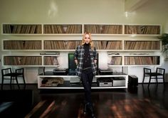 Record collector Frida Giannini, creative director at Gucci.