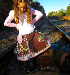 18M  5T Come Fly With Me Twirl Skirt by lillollipopsdesigns, $44.99