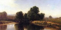 Alfred Thompson Bricher - Cattle by the River