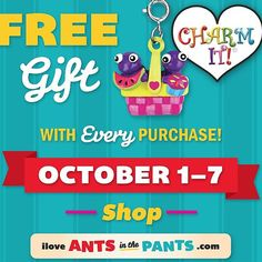 Do you have a special silly, wiggly, giggly tot in your life? Head over to ➡️ iloveantsinthepants.com and receive a FREE GIFT with any purchase - now through October 7!!! ❤️ #FREEgift #baby #gift #fun #babies #toddler #instakids #instababy #giveaway #charmit #antsinthepants