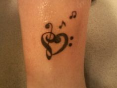 forastitchinthyme: music note tattoos for girls