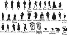 Doctor Who Car Stickers - Set of 4 by EpicFamilyDecals
