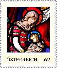 2012 Austria :: Kirchenfenster :: Church Window :: Single Stamp