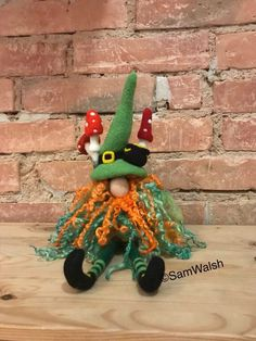 Needle Felted Soft Sculpture Gifts by Quirky Gifts, Unusual Gifts, Decoration, Art Decor, Irish Leprechaun, Felt Gifts, Craft Free, Felt Brooch, Soft Sculpture