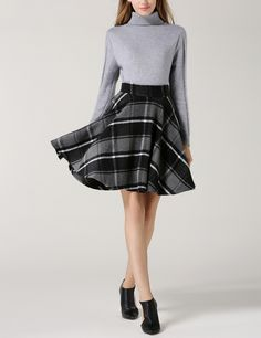 Shop Grey Black Plaid Flare Skirt online. SheIn offers Grey Black Plaid Flare Skirt & more to fit your fashionable needs.