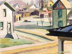 Houses Artwork by Charles Burchfield Hand-painted and Art Prints on canvas for sale,you can custom the size and frame