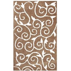 Mapple Home Soft Cozy Scroll Design Shag Rug via Polyvore featuring home, rugs, scroll rug, hand woven rugs, hand-loomed rug, shag area rugs and hand loomed rug