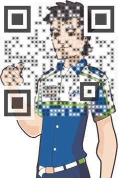 This is what we mean when we say Visual QR Codes are designed for people not machines