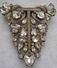 #101 vintage eisenburg original rhinestone pin/brooch/clip