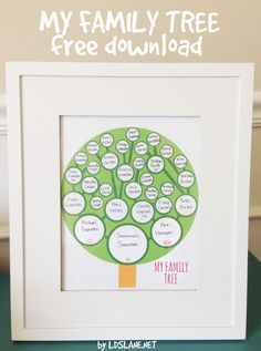 My Family Tree Printable - so great for the kids to see who their grandparents, great-grandparents are, etc.!