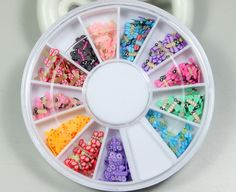 12 Colors clay tablets dragonfly Designs Nail Art Polymer Decal Slices in Wheel by XT ** Click image for more details.