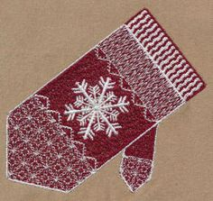Threadsketches' set Winter Friends - Christmas embroidery designs, Big Black Friday Sale!, winter fair isle snowflake mitten