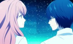 "This is from the anime Kanojo."" The couple in the picture is Hikari Tsutsui and Iroha Igarashi. Neko, Otaku, Tumblr View, Iroha, Romance, Most Beautiful Images, Japanese Cartoon, Couple Cartoon, Girl Wallpaper"