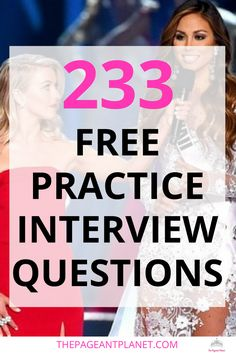 Free Practice Pageant Questions These professional practice interview questions will help you nail your pageant interview and wow the judges Contestants pay anywhere from. Practice Interview Questions, Pageant Interview Questions, Interview Skills, Beauty Pageant Questions, Interview Dress, Interview Outfits, Teen Pageant, Pageant Tips, Miss Pageant