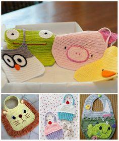 babadores otimo site http://aprendizdecrocheteiras.blogspot.com.br/2013/09/babadores-de-croche-ganhe-mais-circulo.html
