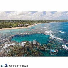 This is the Blue Hole at Shacks Beach in Isabela PR.  Gracias para Repost @raulito_mendoza.  Stay at Villa Tropical - 787-872-8172. Villatropical.com